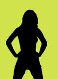 Silhouet van een jonge vrouw Royalty-vrije Stock Afbeelding