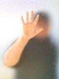 Silhouet van een man lichaam Stock Fotografie