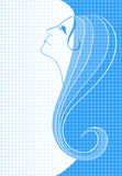 Silhouet van een meisje Royalty-vrije Stock Foto's