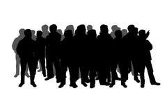 Silhouet van een menigte royalty-vrije illustratie