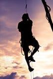 Silhouet van een Mens Stock Fotografie