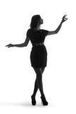 Silhouet van een mooi meisje Royalty-vrije Stock Fotografie