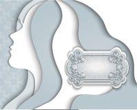 Silhouet van een mooie jonge vrouw Royalty-vrije Stock Foto