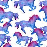 Silhouet van een paard Geïsoleerde De illustratie van de waterverf Royalty-vrije Stock Afbeeldingen