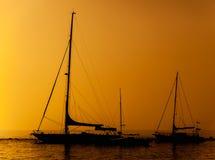 Silhouet van een schip Royalty-vrije Stock Foto