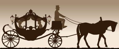 Silhouet van een vervoer vector illustratie