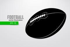 Silhouet van een voetbalbal Stock Fotografie