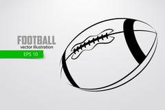 Silhouet van een voetbalbal Royalty-vrije Stock Afbeeldingen