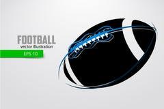 Silhouet van een voetbalbal Royalty-vrije Stock Foto's
