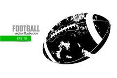 Silhouet van een voetbalbal Stock Foto