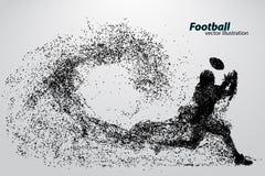 Silhouet van een voetbalster van deeltje rugby Amerikaanse Voetballer stock illustratie