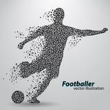 Silhouet van een voetbalster van driehoeken Royalty-vrije Stock Afbeeldingen