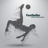 Silhouet van een voetbalster van driehoeken Stock Afbeeldingen