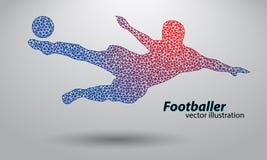 Silhouet van een voetbalster van driehoeken Royalty-vrije Stock Afbeelding
