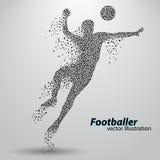 Silhouet van een voetbalster van driehoeken Royalty-vrije Stock Fotografie