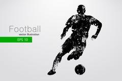 Silhouet van een voetbalster Vector illustratie Stock Afbeeldingen