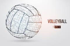 Silhouet van een volleyballbal Vector illustratie