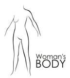 Silhouet van een vrouw Stock Fotografie