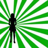 Silhouet van een vrouw vector illustratie