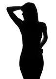 Silhouet van een vrouwelijk cijfer Stock Foto