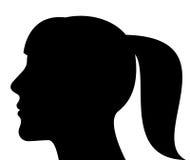 Silhouet van een vrouwenhoofd Stock Foto