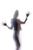 Silhouet van een womanslichaam Stock Foto's