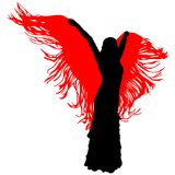Silhouet van flamencodanser Stock Afbeelding