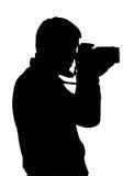 Silhouet van foto Royalty-vrije Stock Foto