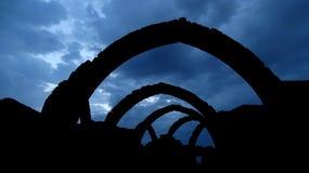 Silhouet van Gezeten Kaman Royalty-vrije Stock Foto's