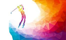 Silhouet van golfspeler Naadloos hoog gedetailleerd sneeuwvlokkenpatroon royalty-vrije illustratie