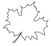 Silhouet van het esdoornblad