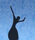 Silhouet van het jonge meisje Royalty-vrije Stock Foto's