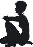 Silhouet van het meisje stock illustratie