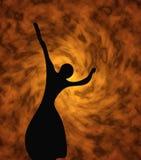 Silhouet van het meisje vector illustratie