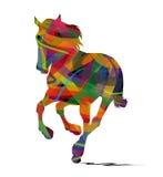 Silhouet van het wild paard royalty-vrije illustratie