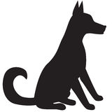 Silhouet van hond Royalty-vrije Stock Afbeeldingen