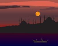 Silhouet van Istanboel Stock Foto