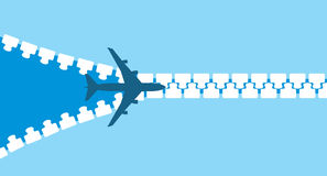 Silhouet van jet vector illustratie