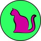 Silhouet van kat Stock Fotografie