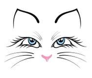 Silhouet van kat Stock Afbeeldingen