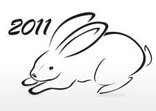 Silhouet van konijn Royalty-vrije Stock Fotografie