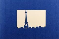 Silhouet van Lareis Eiffel Royalty-vrije Stock Foto's