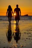 Silhouet van Liefde Stock Foto's