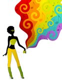 Silhouet van meisje vector illustratie