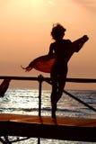 Silhouet van meisje Royalty-vrije Stock Fotografie