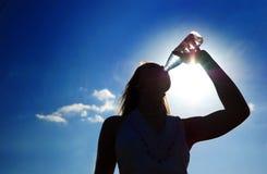 Silhouet van meisje Stock Afbeelding