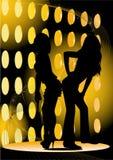 Silhouet van meisjes Royalty-vrije Stock Afbeeldingen