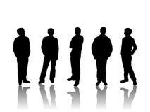 Silhouet van mensen Stock Fotografie