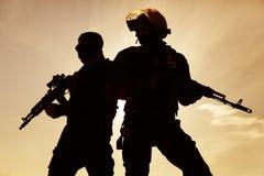 Silhouet van militair Royalty-vrije Stock Afbeelding