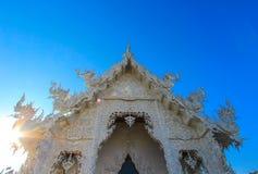 Silhouet van openbare witte tempel Royalty-vrije Stock Afbeelding